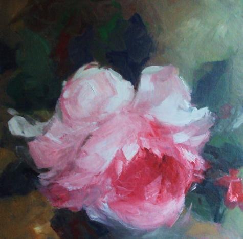 Canavas - rose painting