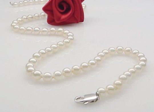 FreeShipping-Pearl-Jewelry-Natural-Pearl-Necklace-Hight-Quality-Pearl-Necklace-6-6-5mm-Chinese-Akoya-Pearl