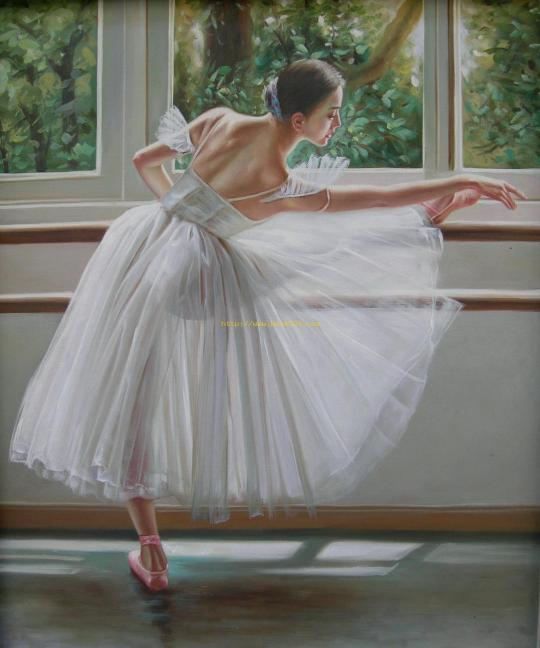 Ballet-beautiful-girls-oil-painting