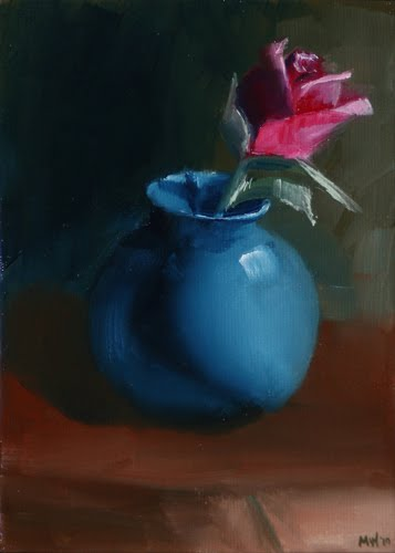 daily-painters-rose-in-vase