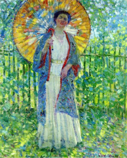 Frederick Carl Frieseke - The Japanese Parasol