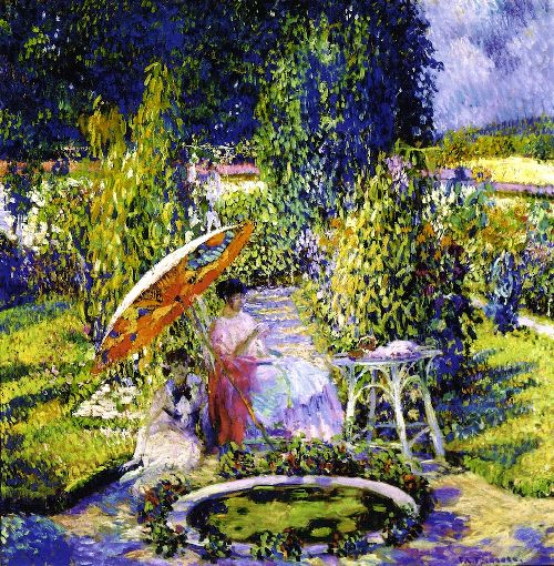 Frederick-C-Frieseke-xx-The-Garden-Umbrella-xx-Telfair-Museum-of-Art