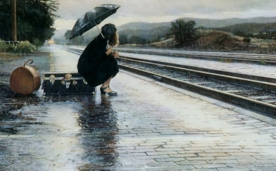 waiting-for-train-in-rain-background