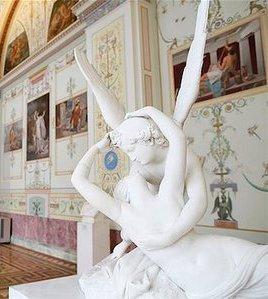 Cupidon si Psyche, statuie de Antonio Canova - Muzeul Ermitaj SanktPetesburg