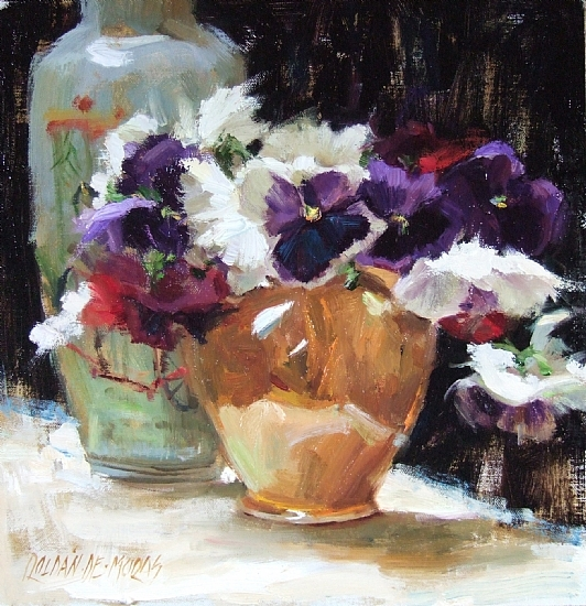 pansies-in-orange-vase