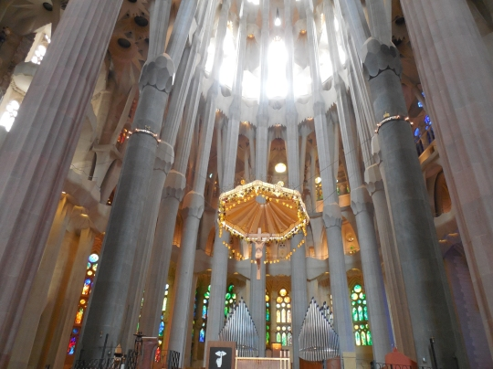 Barcelona,interior Sagrada Familia