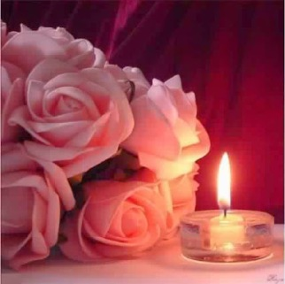 bougie-et-roses