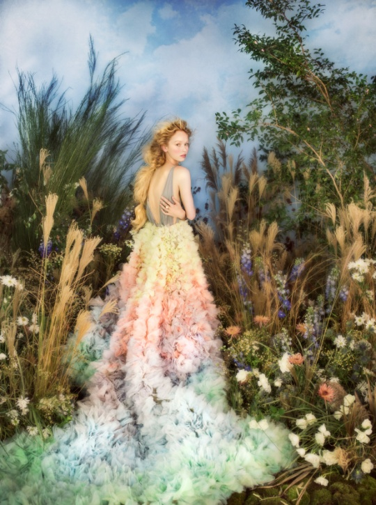 Inspired by Renoir's Garden, photographer Jamie Beck captures the Cartier Étourdissant collection, Modeled by Emma Bartlett, Styled by Krisana Sotelo, Floral Set Design by Putnam & Putnam, Prop Stylist by Zio & Sons, Makeup by Christine Cherbonnier, Hair by Michael Thomas Lollo, Nails by Angel Williams, shot in YC at Jack Studios on Oliphant canvas backdrop.