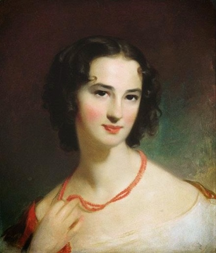 1845 Thomas Sully (1783-1872).  Mrs James Montgomery Jr.