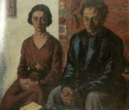 """""""Scriitorul Ionel Teodoreanu cu soția"""" (1932)"""