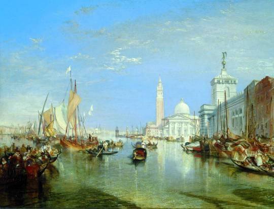 turner - Venice- The Dogana and San Giorgio Maggiore. 1834. Oil on canvas. 228.6 cm (90 in.) x 309.88 cm (122 in.). National Gallery of Art, Washington DC