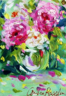 Flowers-handmade-oil-painting