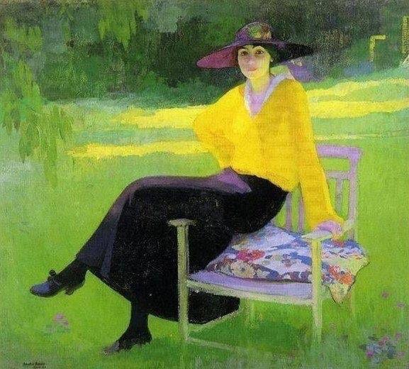 Amedeo Bocchi, In the Park, 1919.