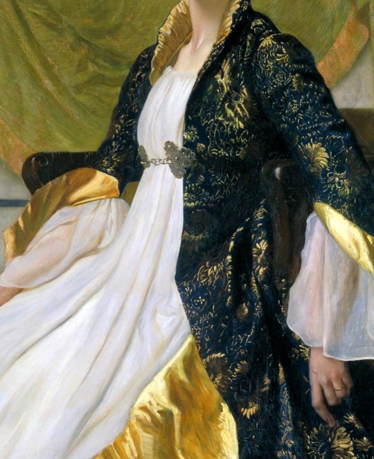 Portrait of Mrs Ernest Moon 1888 by Sir William Blake Richmond 1842-1921