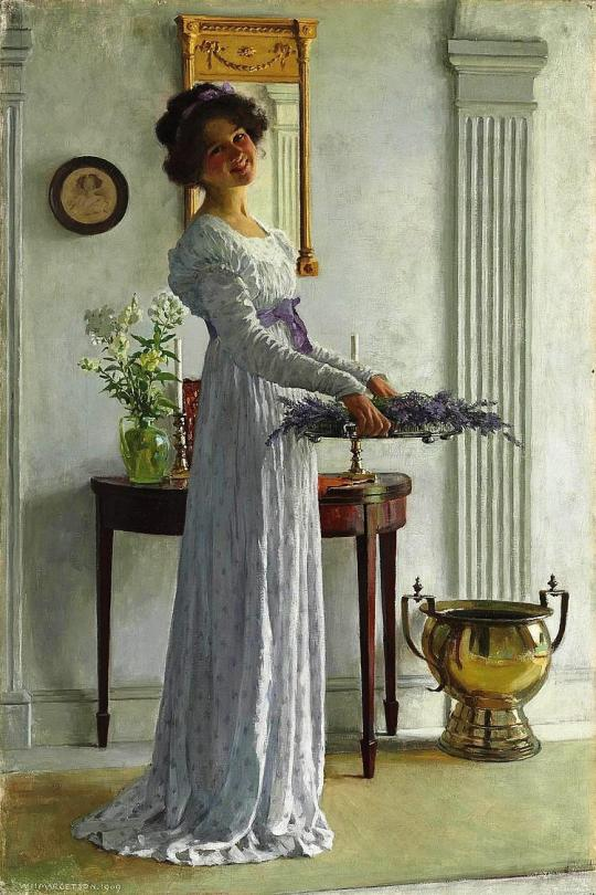 William Henry Margetson lavanda proaspata