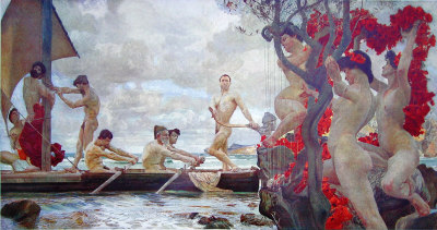 Otto Greiner - Ulysses and Sirens (1902)