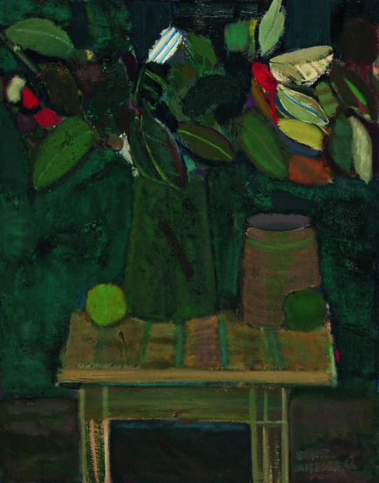 Bouquet in green vase, 1965 - Artur Nacht-Samborski (1898–1974)