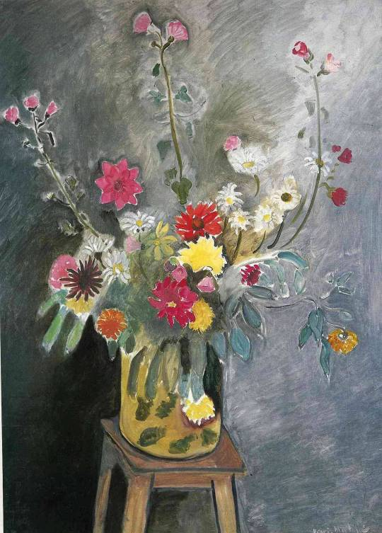 Bouquet of mixed flowers via Henri Matisse
