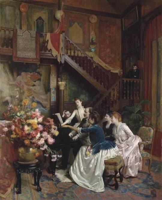 Autour d'une partition (c.1888). Albert Aublet (French, 1851-1938).