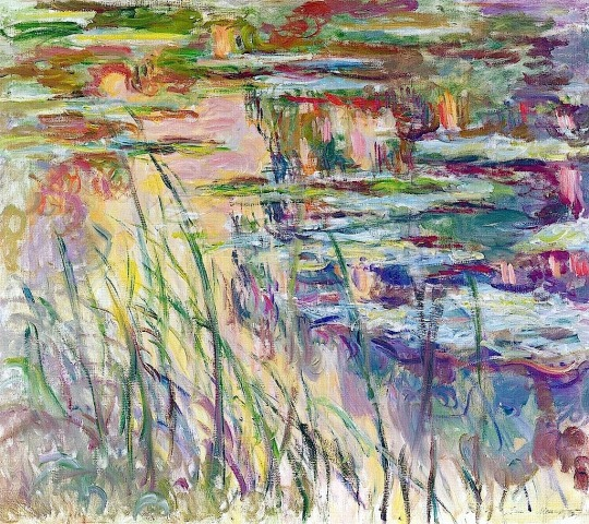 Claude Monet , Waterlilies reflections on the water , 1907
