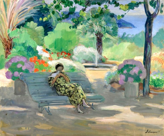 Henri Lebasque – Young Woman with a Dove, 1923