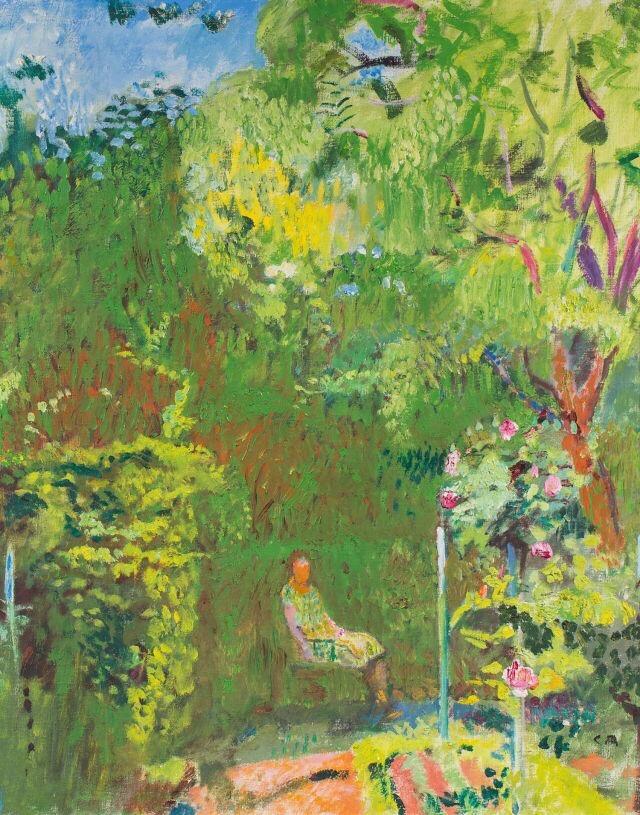 Mrs. Amiet in the Garden