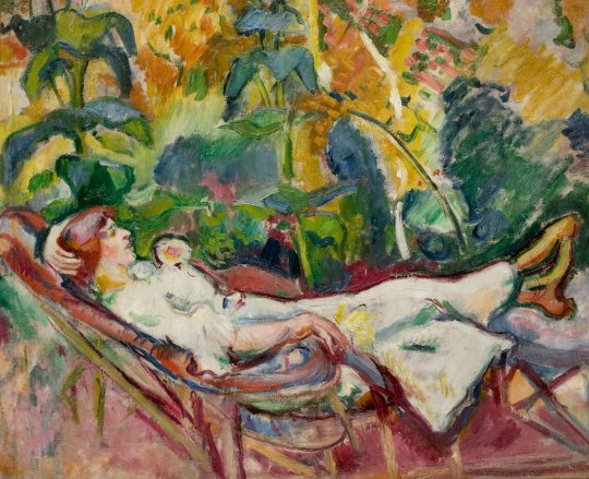 Woman in the chaise longue - Emile Othon Friesz, 1907..