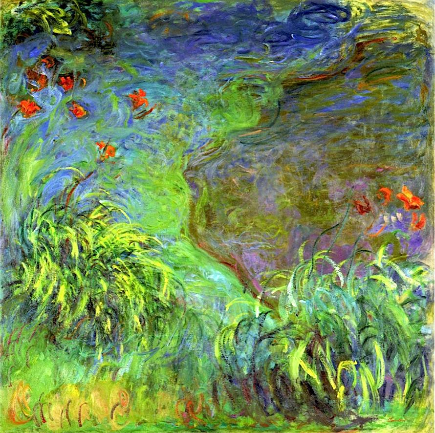 Claude Monet Hemerocalles au bord de l'eau