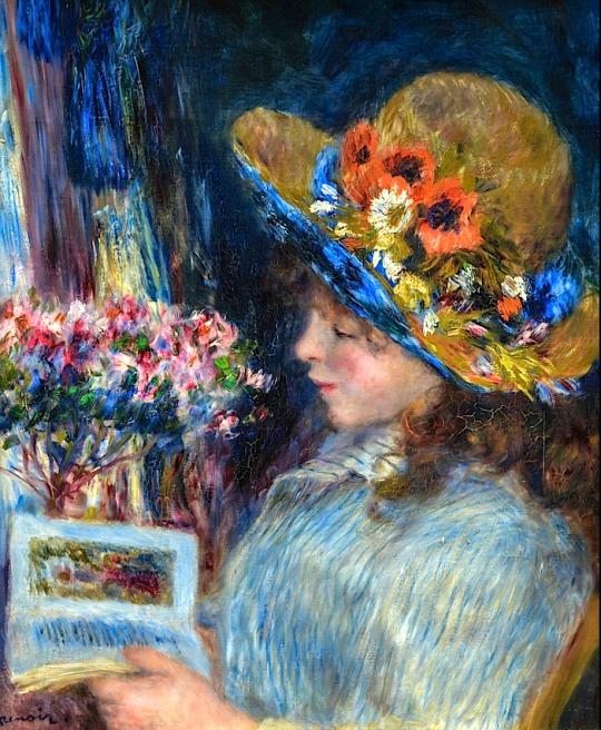 Pierre Auguste Renoir - Girl Reading, 1890