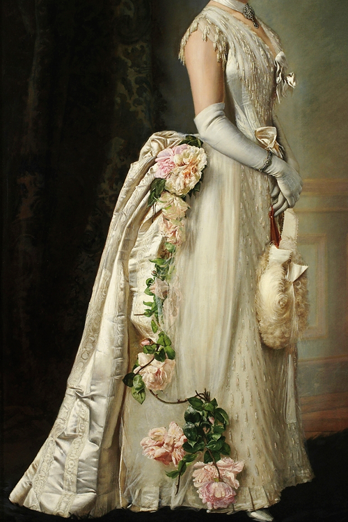Portrait of an Elegant Lady by Francois Bunery
