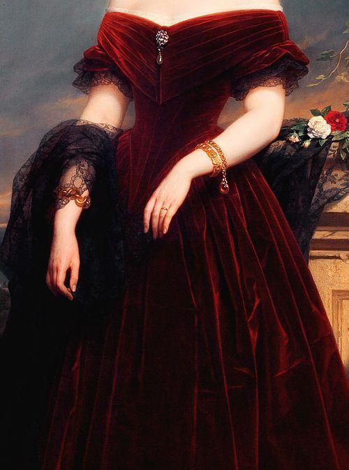 Isabelle Antoinette Barones Sloet van Toutenburg, by Nicaise De Keyser-detail