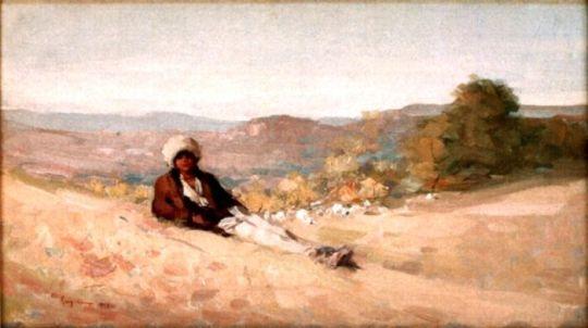 ciobanas pe valea Doftanei