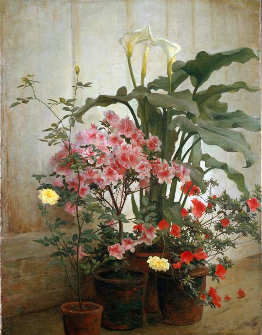 George Cochran Lambdin - Side of a Greenhouse, c.1870-80