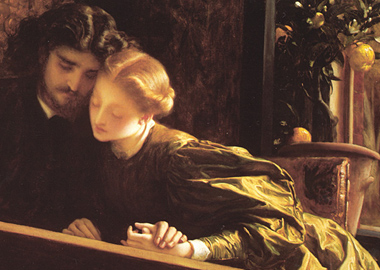 Lord_Frederick_Leighton_The_Painters_Honeymoon detail