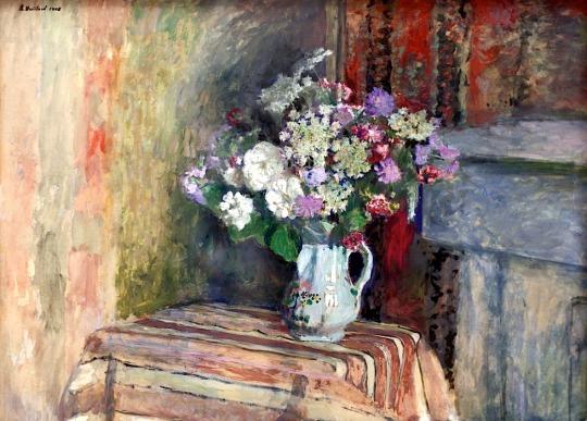 0Edouard Vuillard. 1868-1940. Paris. Fleurs dans un vase.