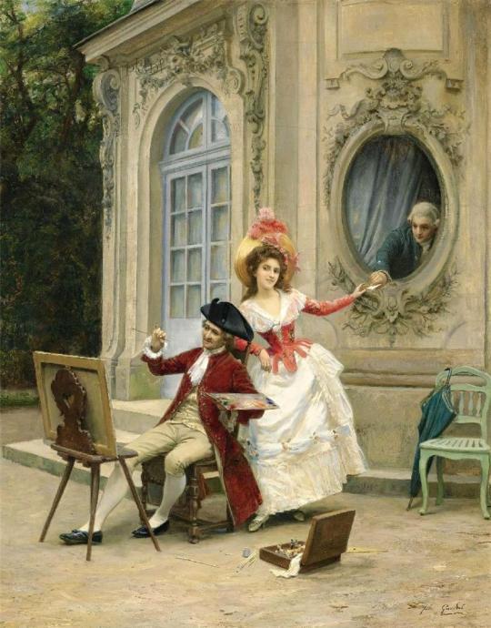 Artistul franceză Jules Girardet. 1856