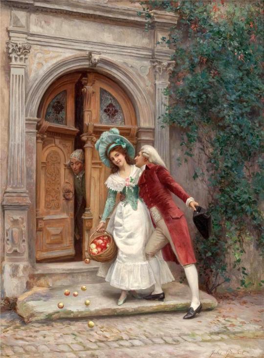 Artistul franceză Jules Girardet.