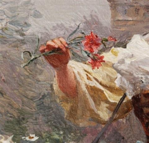 louis-marie-de-schryver-the-flower-girl