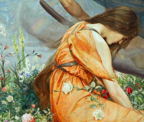 Amoret in the Garden of Adonis (1887) by John Dickson Batten.