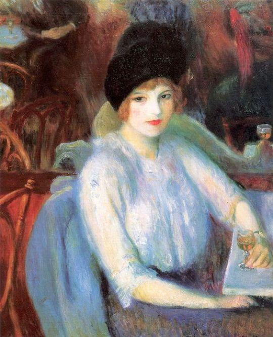 Café Lafayette (Portrait of Kay Laurel)