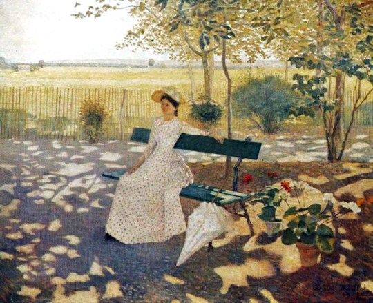 1 Aristide Maillol (French artist, 1861-1944) Woman Sitting with a Parasol 1895