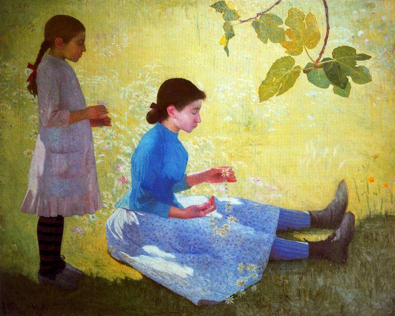 10 Aristide Maillol (French artist, 1861-1944) La Couronne de fleurs 1889