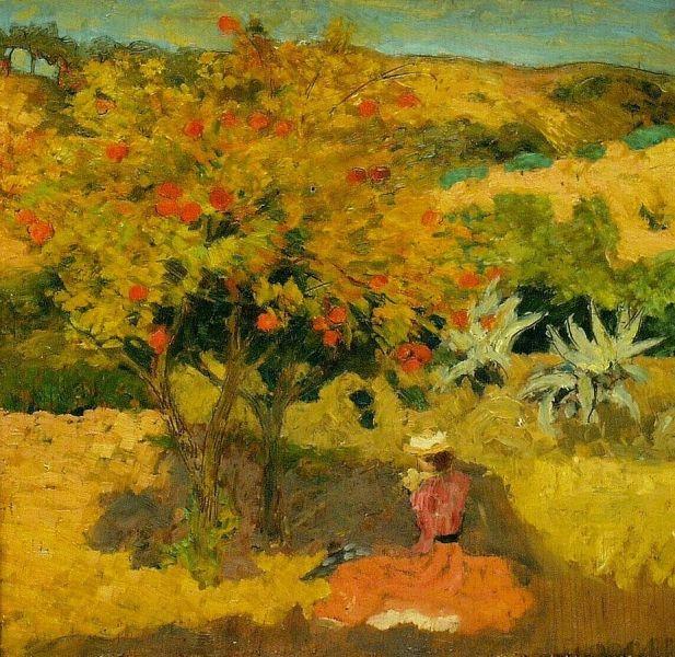 Landscape-Aristide-Maillol-Oil-Painting