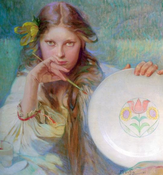 Alfons Mucha - The Artist 1920