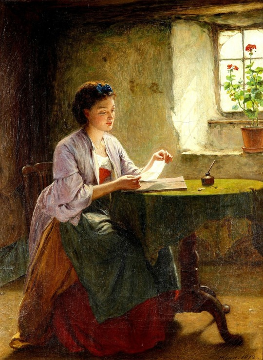English-Genre-Painter-Haynes-King-Love-Letter-Classical-Oil-Painting-Reproduction-Canvas-Print-Home-Goods-Wall