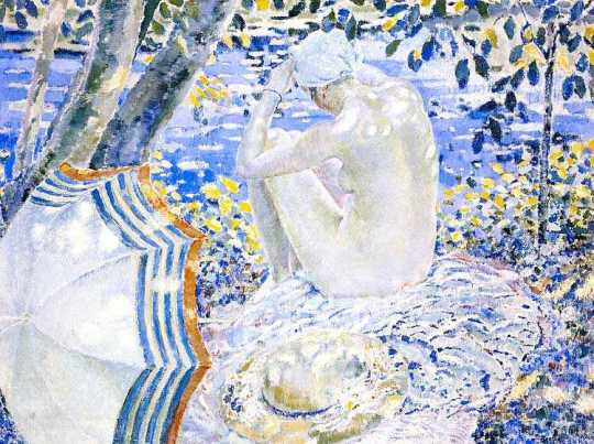 on-the-bank_frederick-carl-frieseke