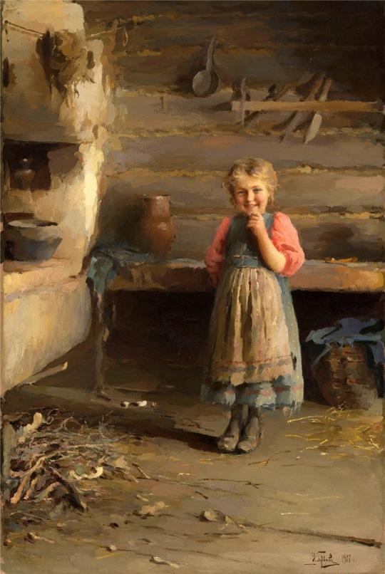 PICTORUL RUS GOROKHOV IVAN LAVRENTEVICH (1863-1934)