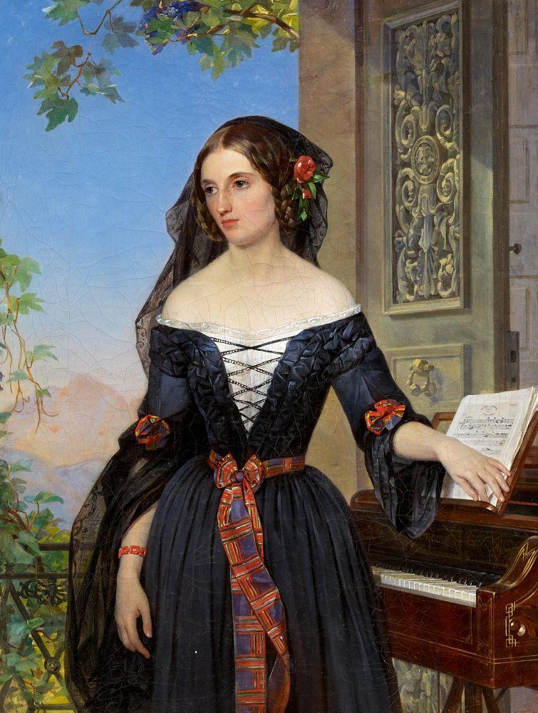 1865 Rome Portrait of Natalie Baggavut