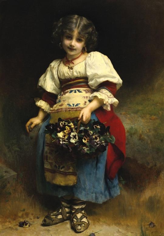 Корзинка с цветами (A Basket Of Flowers)_125.4 х 89_х.,м._Частное собрание