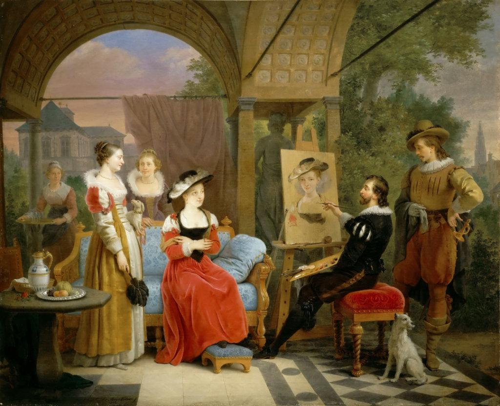 Rubens pictează o imagine a pălăriei de paie în Pavilionul de grădină